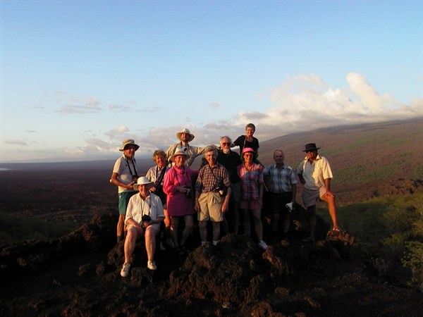 Group at Sunset on Isabela